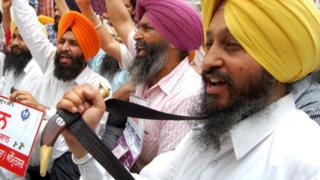 Sikhs at Amritsar's International Airport (25 May 2011)