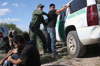 US Border Patrol make an arrest near Rio Grande City, Texas in 2015