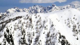 The mountainous Dachstein region in the Austrian Alps