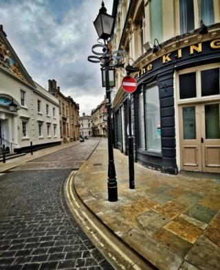 Empty street in Hull