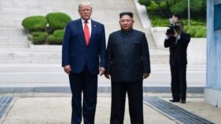 Donald Trump na Kim Jong-un