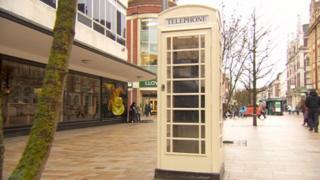 K6 phone box on street