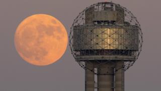 Superluna desde Dallas, EE.UU.
