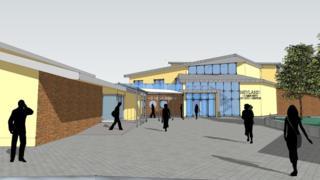 Artist impression of Neyland community hub