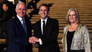 Macron avec le couple