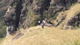 Fiji Police at the site where five bodies were found in he Nausori Highlands, western Fiji