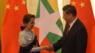 ဒေါ်အောင်ဆန်းစုကြည်နဲ့ တရုတ်သမ္မတ ရှီကျင့်ဖျင်