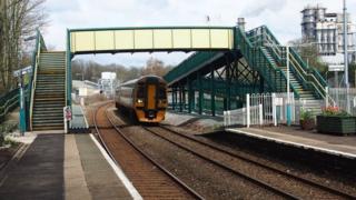 Chirk railway station, near Wrexham