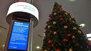 Flight disruption notice