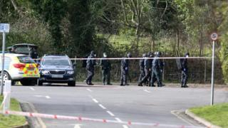 Police said bomb making components and explosives were found in the country park