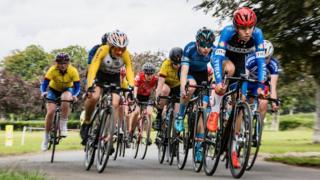 Johnstone Jets Youth Cycling final race of the season round Bellahouston Park