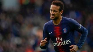 Neymar em um jogo pelo Paris Saint Germain