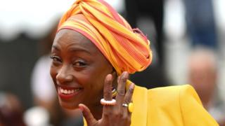 "Burkinabe director and member of the jury of the Cannes Film Festival Maimouna N'Diaye smiles as she arrives for the screening of the film ""Matthias and Maxime"" at the 72nd edition of the Cannes Film Festival in Cannes, southern France, on May 22, 2019."