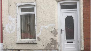 House in north Belfast which was targeted by gunman