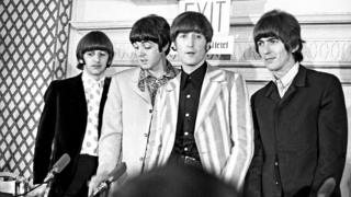 The Beatles pictured in New York in 1965