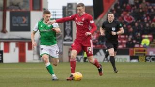 aberdeen vs hibernian on 7 March