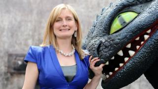 How To Train Your Dragon author Cressida Cowell at the premiere of the film