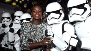 "Actress Lupita Nyong""o attends the World Premiere of Â""Star Wars: The Force AwakensÂ"