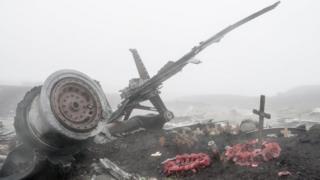 Team working at crash site