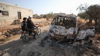 автомобиль на месте убийства Багдади
