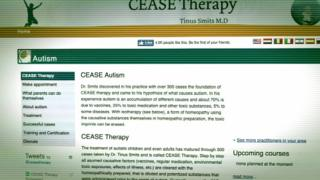 Cease therapy website page