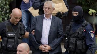 Bucharest mayor Sorin Oprescu, arrested at home, 6 September 2015