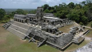 Mayan ruins in Palenque, Mexico