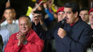 Diosdado Cabello e Nicolás Maduro