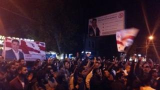 müxalif Vahid Milli Hərəkat partiyasının mitinqi