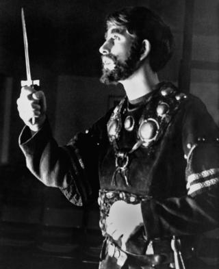 Prince Charles acting in the dagger scene as Macbeth