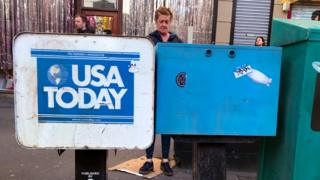 USA Today news stand