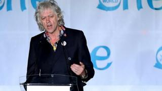Irish musician and activist Bob Geldof