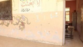 IŞİD'in ders verdiği sınıflardan birisi.
