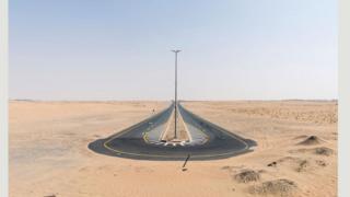 Дорога в пустелі