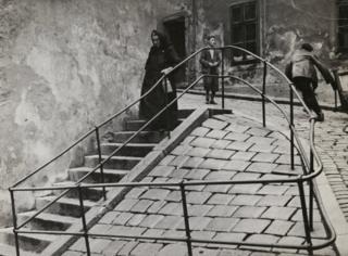 Inside the Jewish quarter, Bratislava, c. 1935–38.