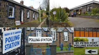 Polling stations in Guernsey's 2012 election