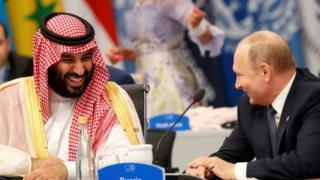 بوتين وولي العهد السعودي في قمة العشرين