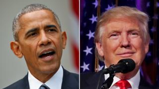 Barack Obama na Donald Trump