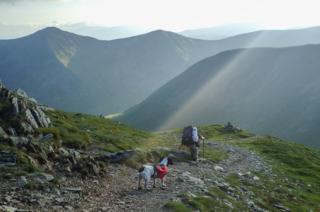Rob Fraser walking over Harter Fell