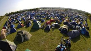 Isle of Wight Festival tents