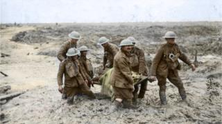 Colourised image from Passchendaele