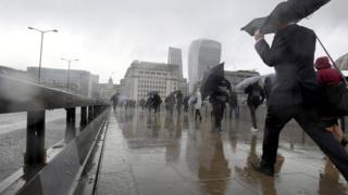 Pedestrians on London Bridge