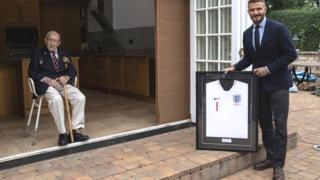 Man united news  football news  football transfer and rumours Capt Sir Tom Moore and David Beckham