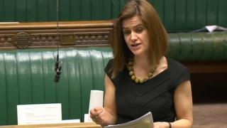 Jo Cox MP speaking in Parliament