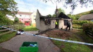 Bungalow destroyed by fire