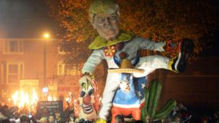 Donald Trump effigy