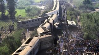 مصر ٹرین حادثہ