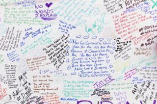 Wall of condolence