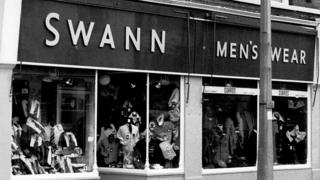 Old photo of shop front