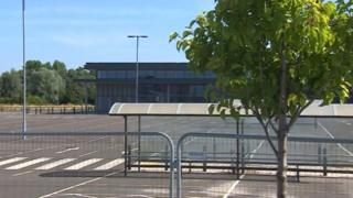 The empty building at Middlehaven, which was initially built to house a Sainsbury's supermarket